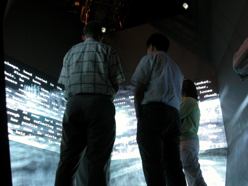 Screen, as installed at Calit2's StarCave for SIGGRAPH 2007