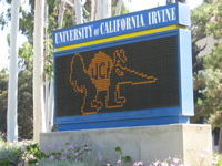 UCI sign, Anteater