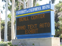 UCI sign, Grand Text Auto exhibition